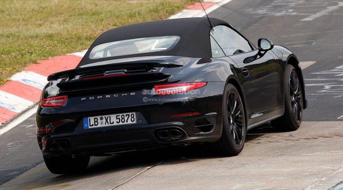 Spyshots: 2014 Porsche 911 Turbo S Cabriolet Testing