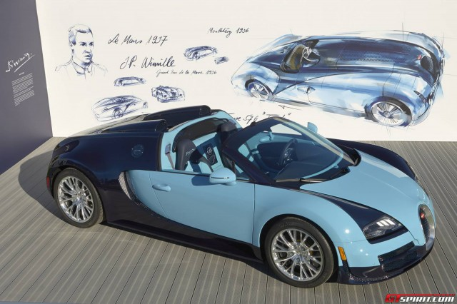 bugatti veyron grand sport vitesse jean pierre wimille edition debuts in monterey gtspirit. Black Bedroom Furniture Sets. Home Design Ideas