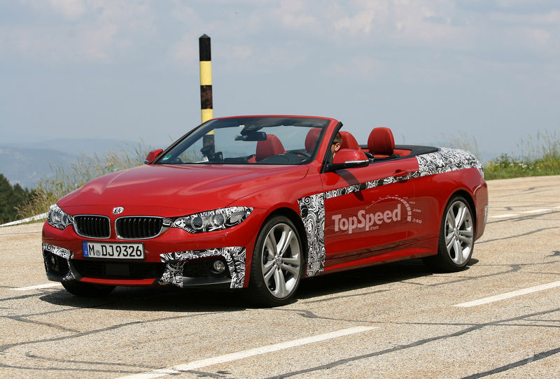 Spyshots: Red 2014 BMW 4 Series Convertible M Sport