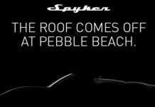 Spyker B6 Venator Spyder Teased Ahead of Pebble Beach 2013