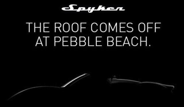 Spyker B6 Venator Spyder Teased Ahead of Pebble Beach 2013