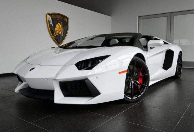 For Sale: White Lamborghini Aventador Roadster With just 120 Miles