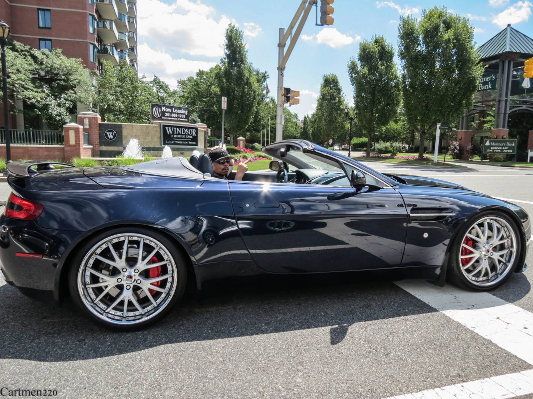 Rapper Ice T Spotted in his Aston Martin V8 Vantage Roadster