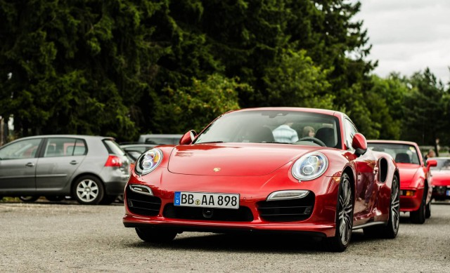 Red 2014 Porsche 911 Turbo Spotted at the 'Ring