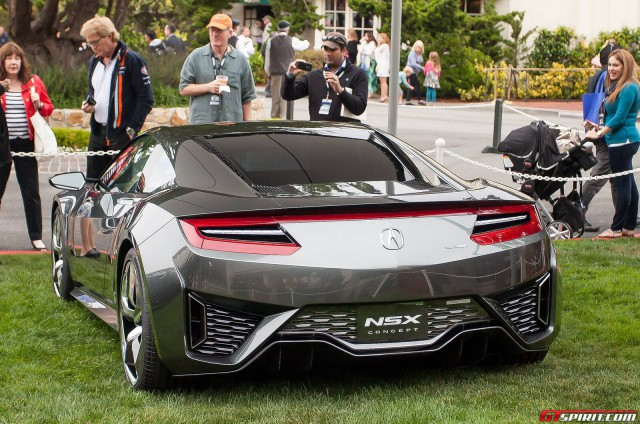 Acura NSX Rear at Pebble Beach