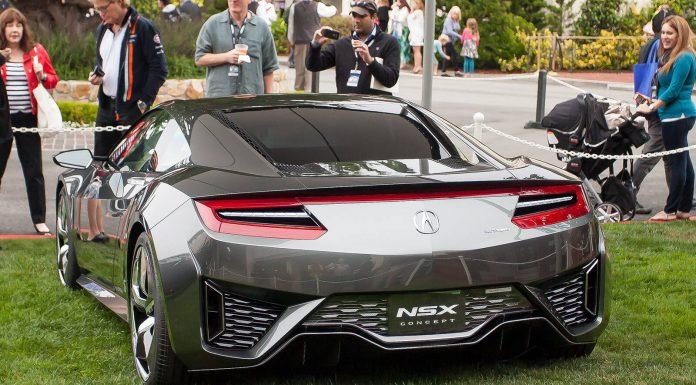Acura NSX Rear at Pebble Beach