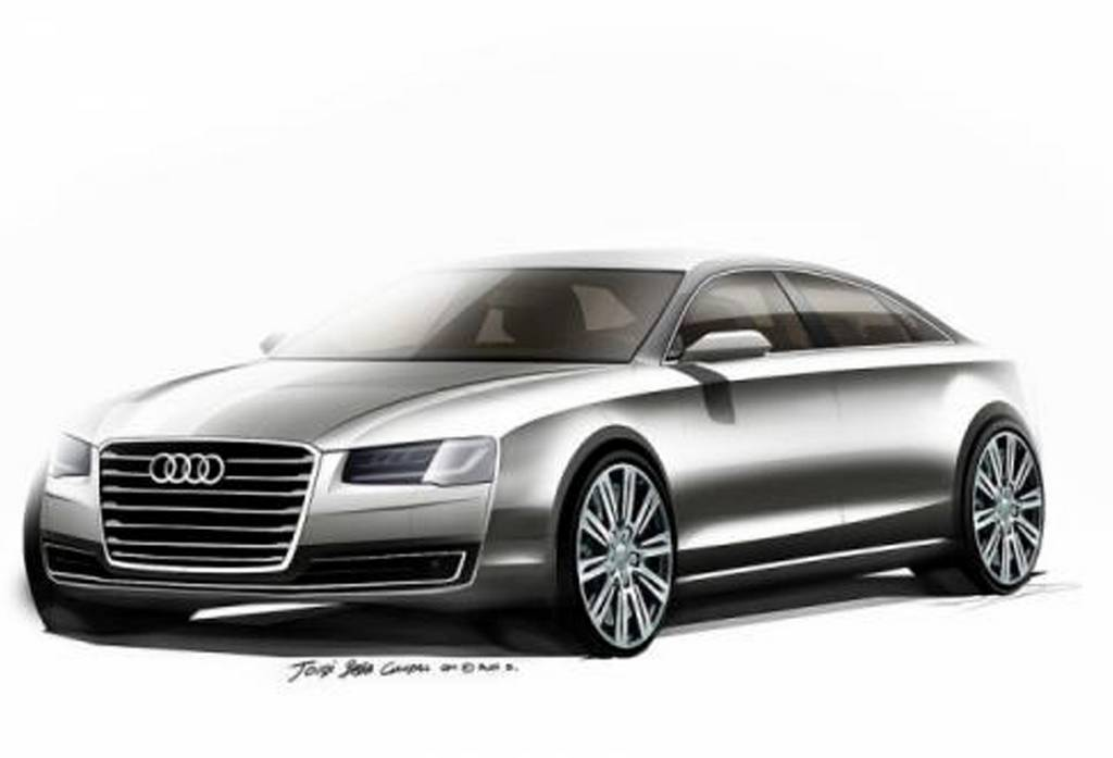 First Sketches of 2014 Audi A8 Revealed