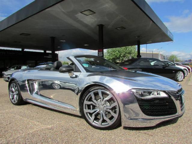 For Sale Elton John AIDS Foundation Chrome Audi R8 V10 Spyder