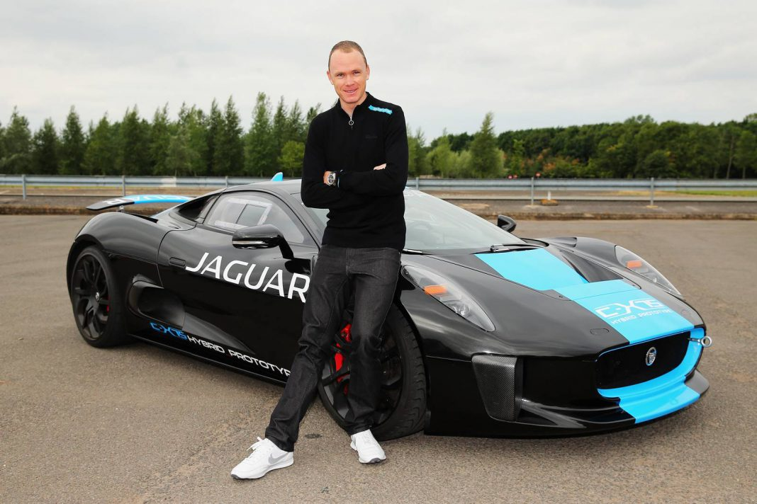 Tour de France Winner Chris Froome Tests Jaguar C-X75