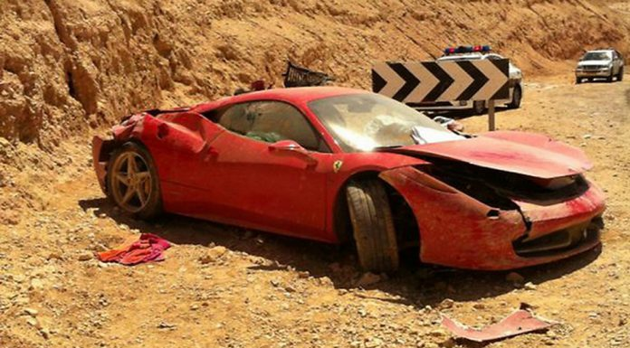 What's That Pile of Wreckage? It's a Destroyed Ferrari 458 Italia from Israel!