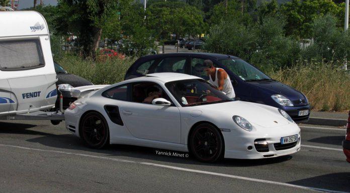 Porsche 911 Turbo Spotted Towing Caravan