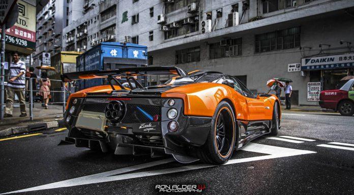 Orange Pagani Zonda Cinque in Hong Kong