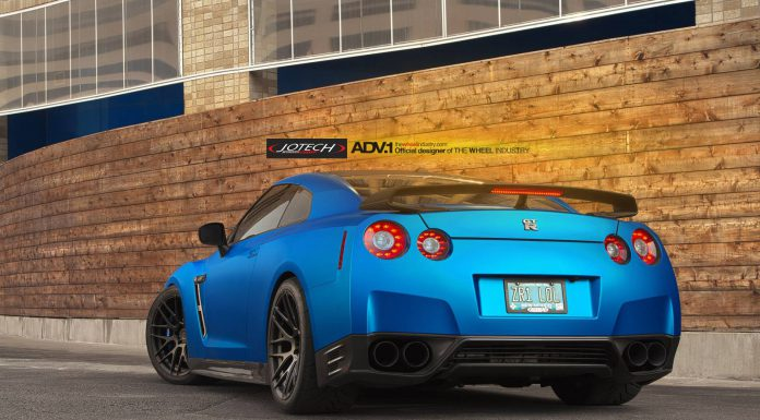 Absolutely Wicked Matte Blue Nissan GT-R by Jotech and ADV.1