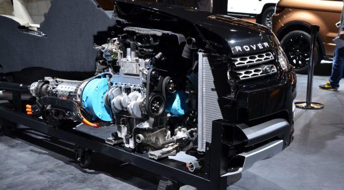 Range Rover Hybrid at Frankfurt Engine