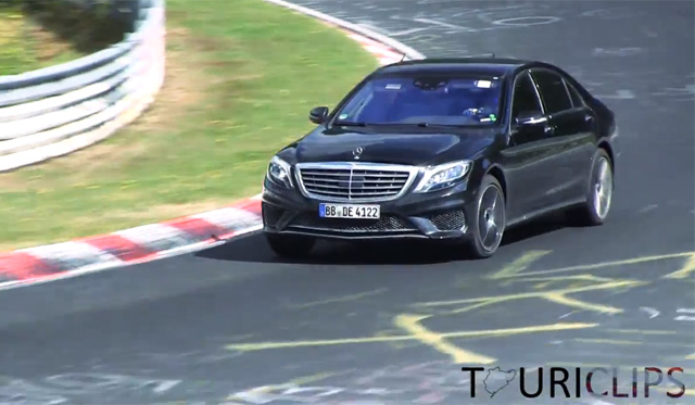 Video: 2014 Mercedes-Benz S65 AMG Spotted Undisguised at the 'Ring
