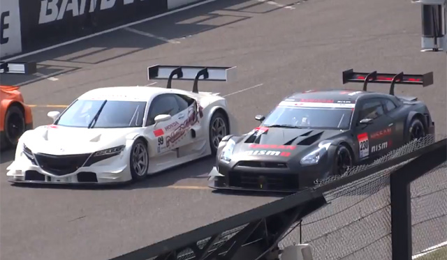 Video: 2014 Nissan GT-R Nismo GT500 and Honda NSX Concept GT on the Track