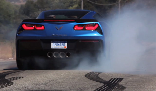 Video: Insane Burnouts in 2014 Corvette Stingray