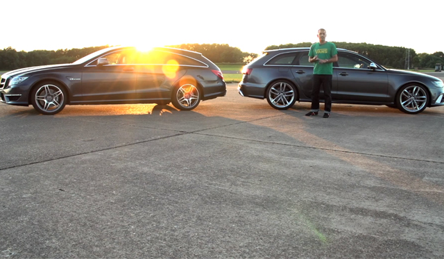 Video: Audi RS6 Avant vs Mercedes CLS63 AMG Shooting Brake by Chris Harris