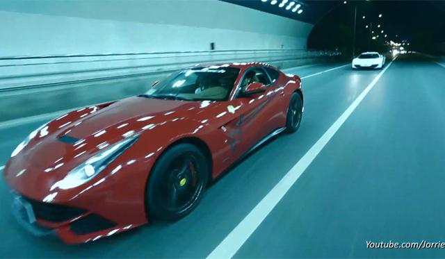 Video: Loud Tunnel Sounds From McLaren 12C and Ferrari F12 Berlinetta