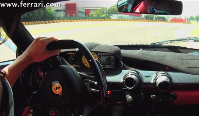 Video: Fernando Alonso Drives LaFerrari at Fiorano