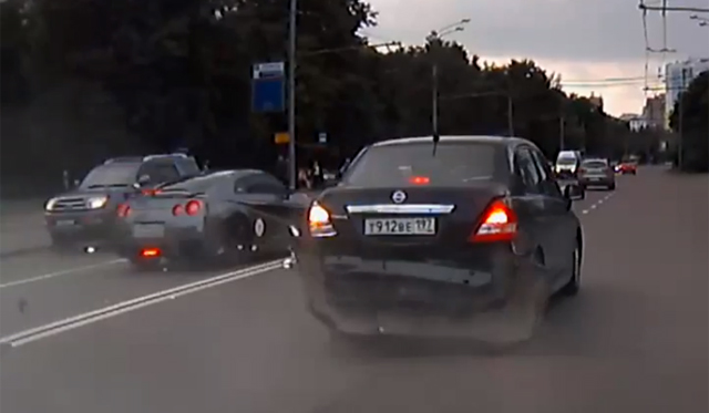 Car Crash: Nissan GT-R Smash in Russia Caught on Tape