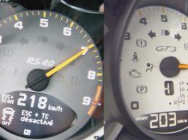 Video: Porsche 911 GT3 RS 4.0 vs 2014 991 GT3 0-200km/h