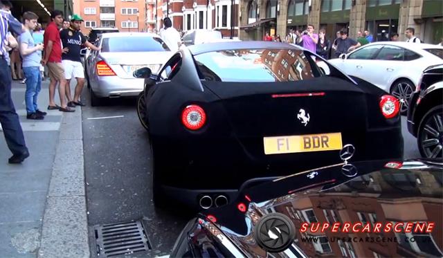 Video: Velvet Ferrari 599 GTB Parallel Parking Fail!