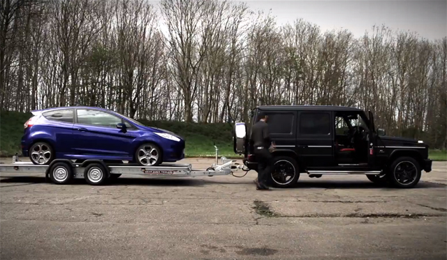 Video: Ford Fiesta ST vs Mercedes-Benz G63 AMG by Chris Harris