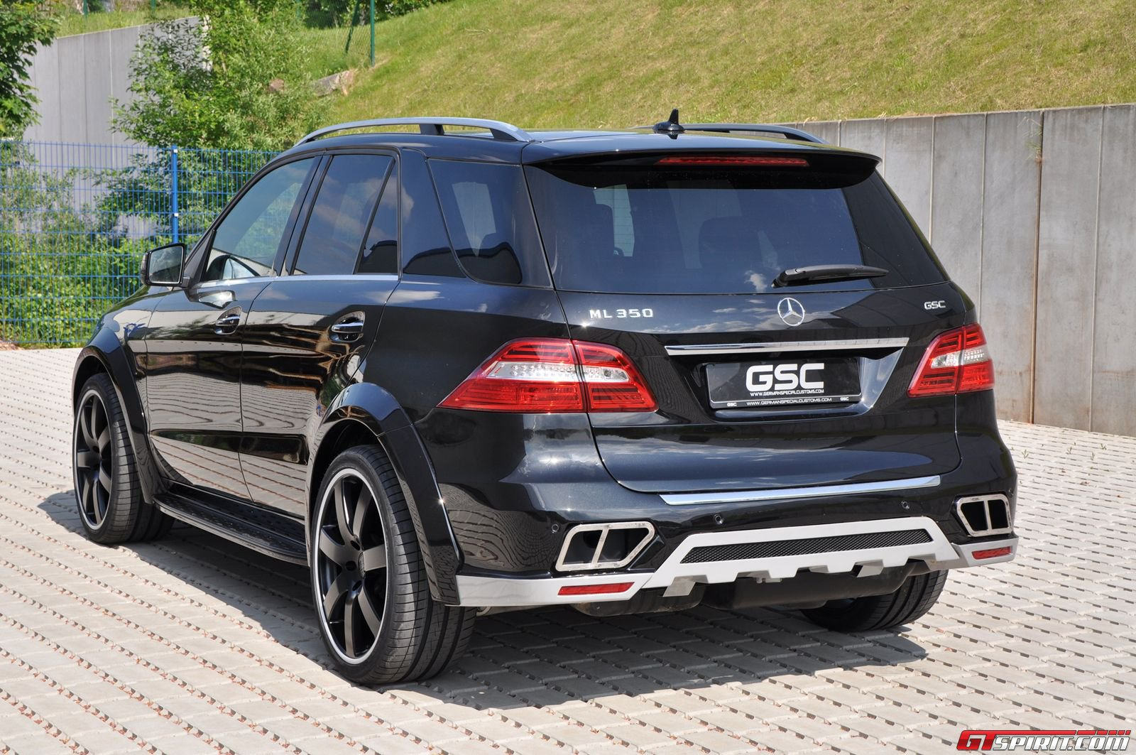 official german special customs wide body kit for mercedes benz ml class gtspirit. Black Bedroom Furniture Sets. Home Design Ideas