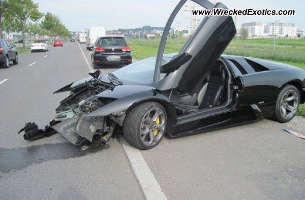 Car Crash: Lamborghini Murcielago Wrecked After Missed Shift