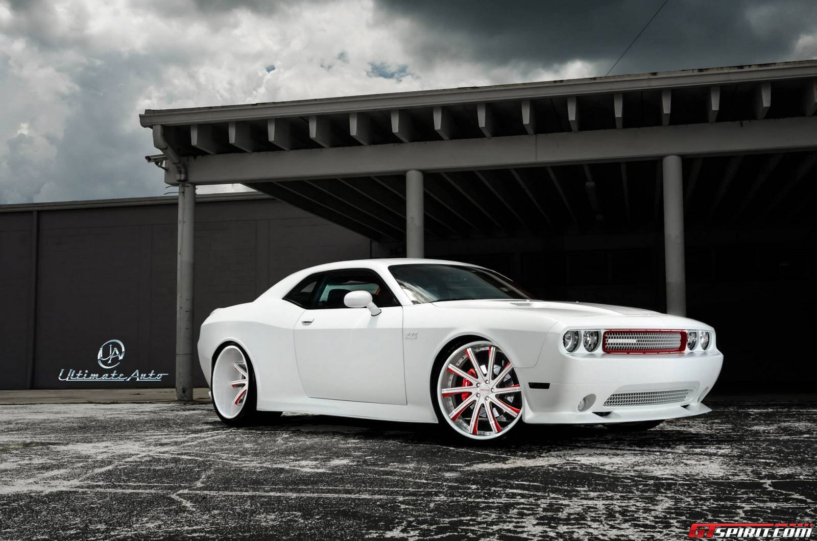 Matte White Dodge Challenger Widebody by Ultimate Auto ...