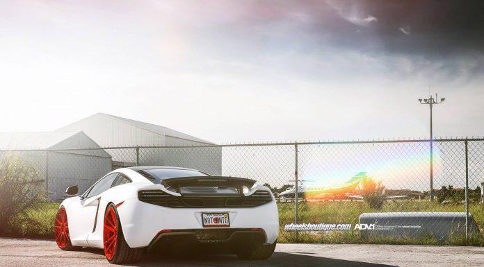 White McLaren 12C Meets Red ADV.1 Wheels
