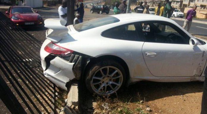 Car Crash: Porsche 911 GT3 Wrecked on Test Drive in Johannesburg