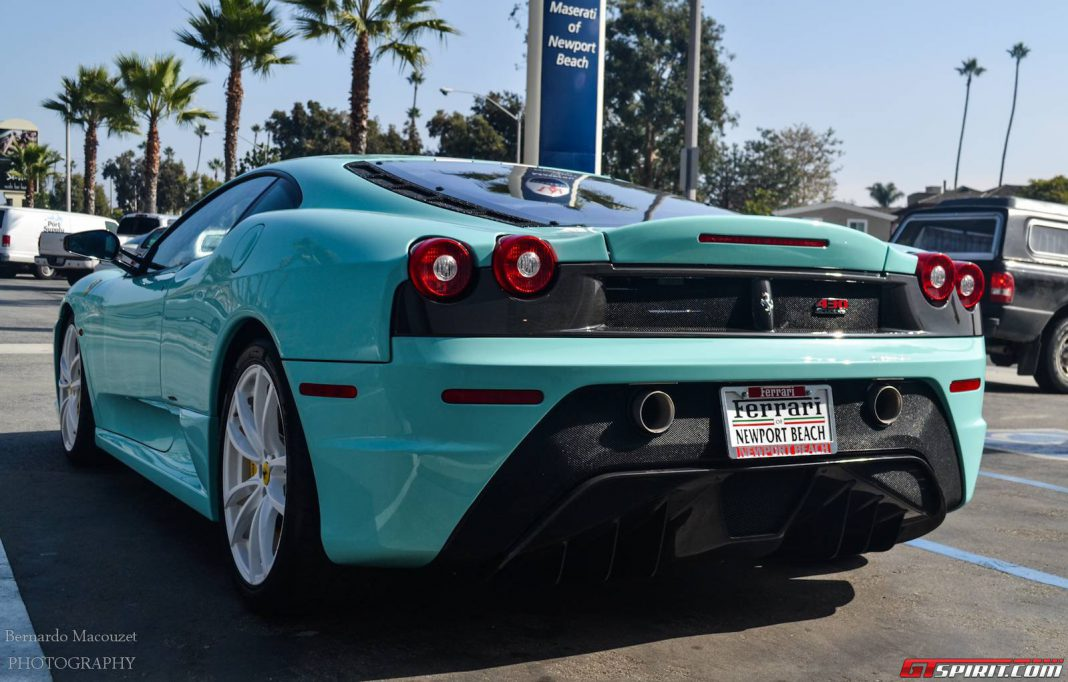 Tiffany Blue Ferrari 430 Scuderia Spotted in California