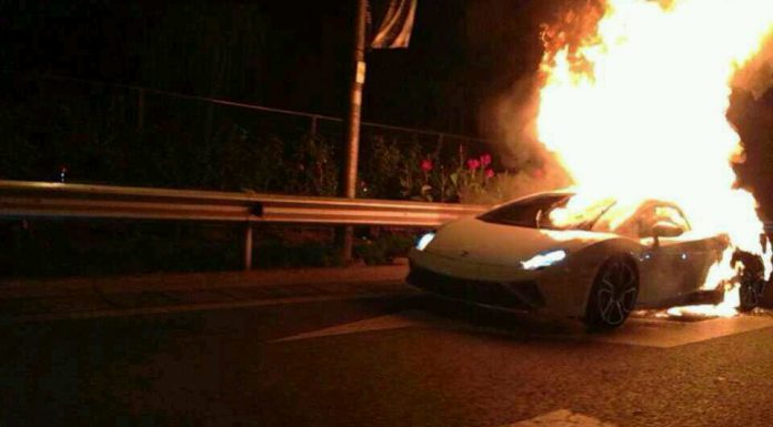 2014 Lamborghini Gallardo LP560-4 on Fire in China