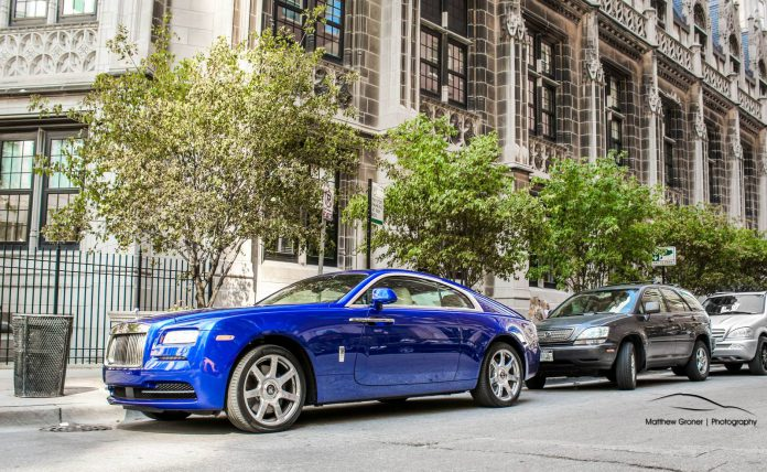 Photo Of The Day: Blue Rolls Royce Wraith in Chicago