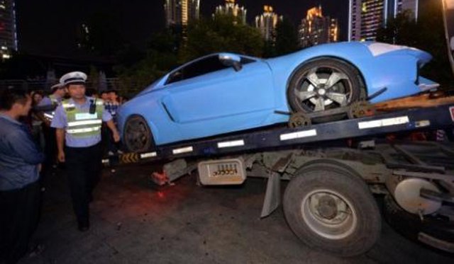 Lamborghini Aventador Replica Seized in China