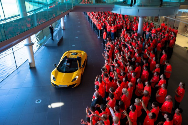 McLaren Celebrates 50th Anniversary as 3,000th 12C Rolls off the Line
