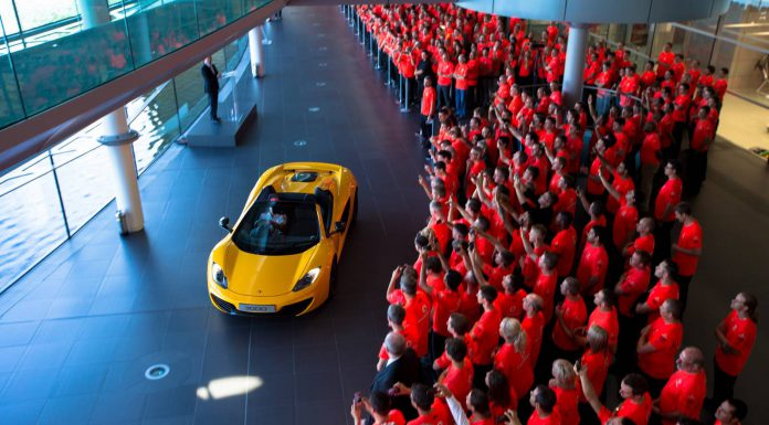 McLaren Celebrates 50th Anniversary as 3,000th 12C Rolls off the Line