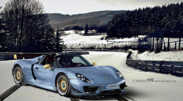 Rendering of the Ultimate Porsche 918 Spyder RS