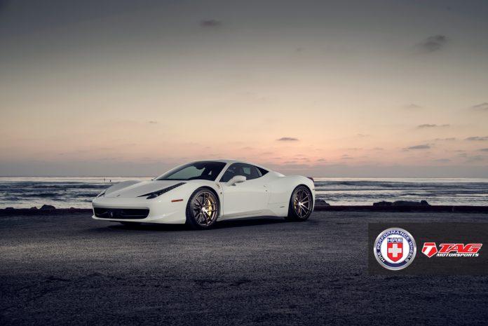 Sleek White Ferrari 458 Italia by TAG Motorsports on HRE Wheels