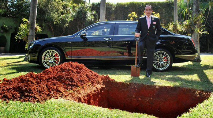 Man 'Burying' His Bentley Was a Publicity Stunt for Organ Donation
