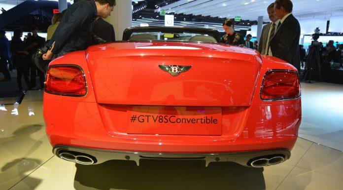 Bentley Continental GT V8 S Convertible at Frankfurt Rear