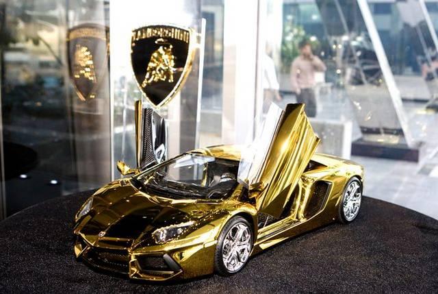 $7.3 Million Gold Lamborghini Aventador Awaits New Buyer ...
