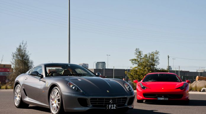 Ferrari 599 GTB and Ferrari 458 Italia Meet 246 Dino in Melbourne