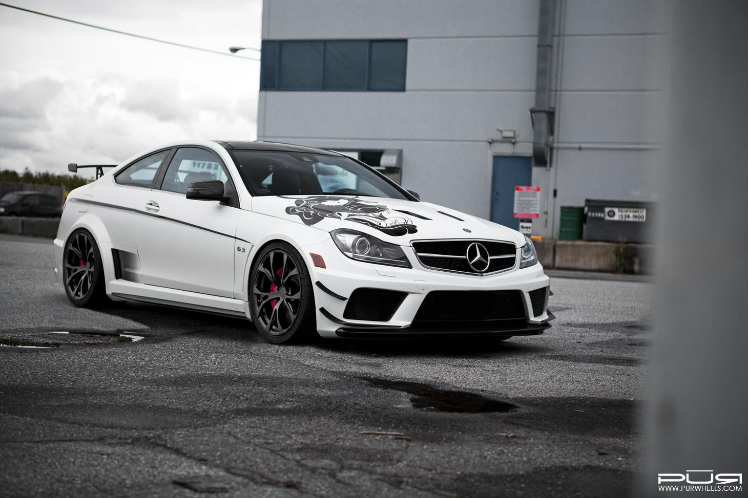 All Types amg black series wheels : Barbaric Mercedes-Benz C63 AMG Black Series Lowered on PUR Wheels ...