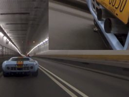 Ford GT40 Shows Off Its Fire-Breathing Capabilities in Tunnel