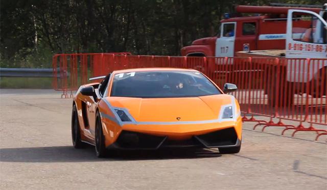 2005hp Lamborghini Gallardo TT Catches Fire in Russia