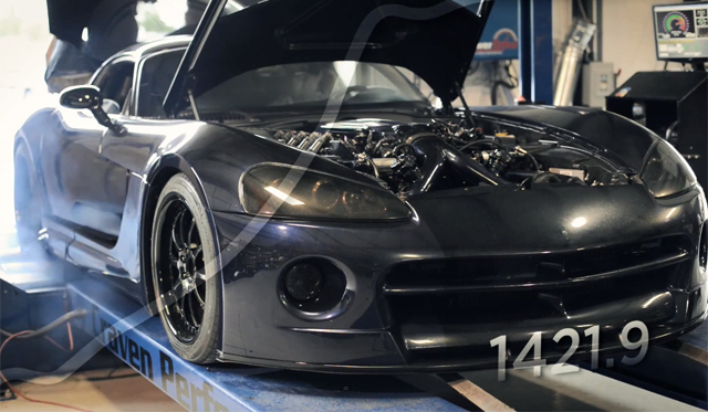 What Does a 1400hp Dodge Viper Sound Like on a Dyno? Epic!