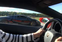 Lamborghini Aventador Races Its Older Brother